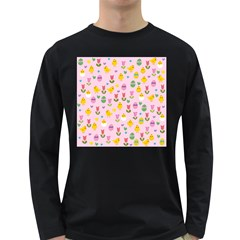 Easter - chick and tulips Long Sleeve Dark T-Shirts