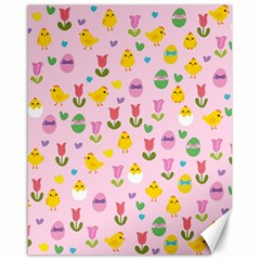 Easter - chick and tulips Canvas 16  x 20