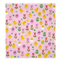 Easter - chick and tulips Shower Curtain 66  x 72  (Large)