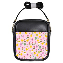Easter - chick and tulips Girls Sling Bags