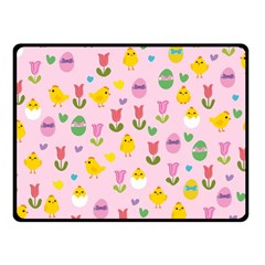 Easter - chick and tulips Fleece Blanket (Small)