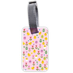 Easter - chick and tulips Luggage Tags (One Side)