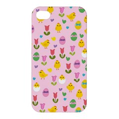 Easter - chick and tulips Apple iPhone 4/4S Hardshell Case