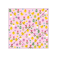 Easter - chick and tulips Acrylic Tangram Puzzle (4  x 4 )