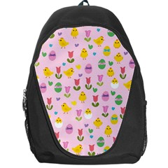 Easter - chick and tulips Backpack Bag