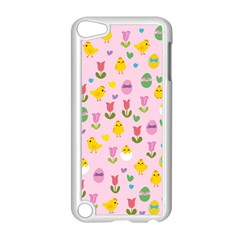 Easter - chick and tulips Apple iPod Touch 5 Case (White)