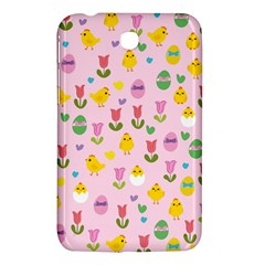 Easter - chick and tulips Samsung Galaxy Tab 3 (7 ) P3200 Hardshell Case