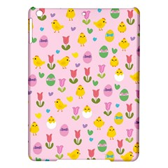 Easter - chick and tulips iPad Air Hardshell Cases