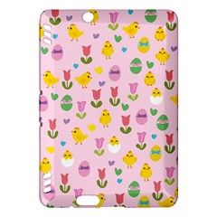 Easter - chick and tulips Kindle Fire HDX Hardshell Case
