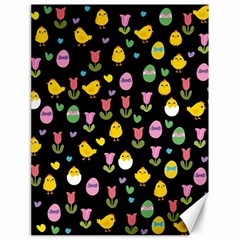 Easter - chick and tulips Canvas 18  x 24