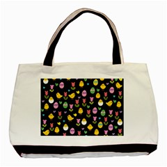 Easter - chick and tulips Basic Tote Bag (Two Sides)