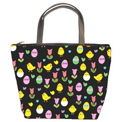 Easter - chick and tulips Bucket Bags