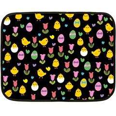 Easter - chick and tulips Fleece Blanket (Mini)