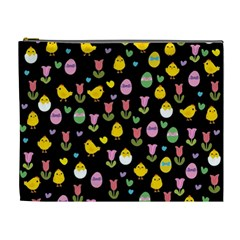 Easter - chick and tulips Cosmetic Bag (XL)