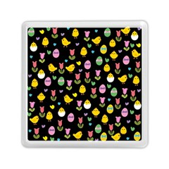 Easter - chick and tulips Memory Card Reader (Square)