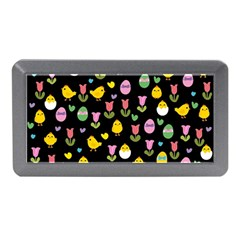Easter - chick and tulips Memory Card Reader (Mini)