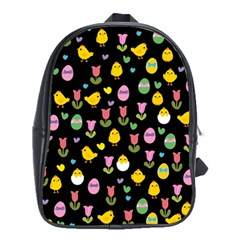 Easter   Chick And Tulips School Bags (xl)