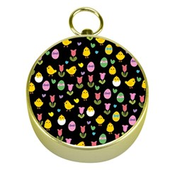 Easter - chick and tulips Gold Compasses