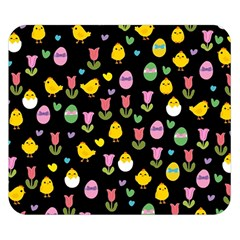 Easter - chick and tulips Double Sided Flano Blanket (Small)