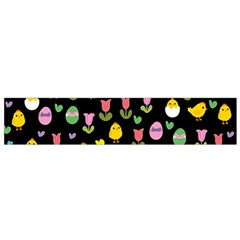 Easter - chick and tulips Flano Scarf (Small)
