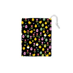 Easter - chick and tulips Drawstring Pouches (XS)