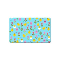 Easter - chick and tulips Magnet (Name Card)