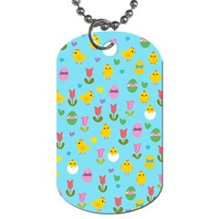 Easter - chick and tulips Dog Tag (One Side)