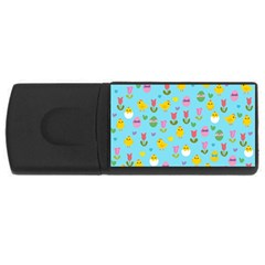 Easter - chick and tulips USB Flash Drive Rectangular (2 GB)
