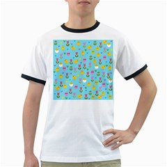 Easter - chick and tulips Ringer T-Shirts