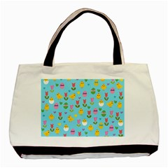 Easter - chick and tulips Basic Tote Bag