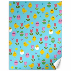 Easter - chick and tulips Canvas 12  x 16