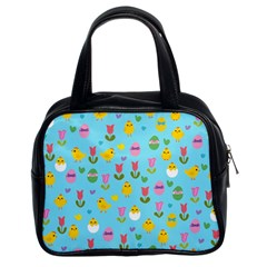 Easter - chick and tulips Classic Handbags (2 Sides)