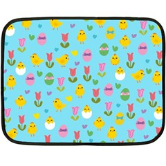 Easter - chick and tulips Double Sided Fleece Blanket (Mini)
