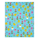 Easter - chick and tulips Shower Curtain 60  x 72  (Medium)  54.25 x65.71 Curtain