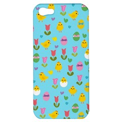 Easter - chick and tulips Apple iPhone 5 Hardshell Case