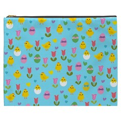 Easter - chick and tulips Cosmetic Bag (XXXL)