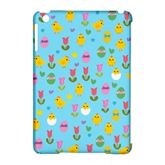 Easter - chick and tulips Apple iPad Mini Hardshell Case (Compatible with Smart Cover)