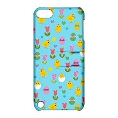 Easter - chick and tulips Apple iPod Touch 5 Hardshell Case with Stand
