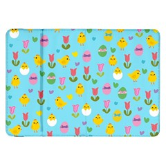 Easter - chick and tulips Samsung Galaxy Tab 8.9  P7300 Flip Case