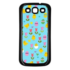Easter - chick and tulips Samsung Galaxy S3 Back Case (Black)