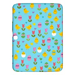 Easter - chick and tulips Samsung Galaxy Tab 3 (10.1 ) P5200 Hardshell Case
