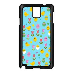 Easter - chick and tulips Samsung Galaxy Note 3 N9005 Case (Black)
