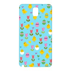 Easter - chick and tulips Samsung Galaxy Note 3 N9005 Hardshell Back Case