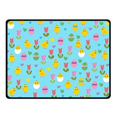 Easter - chick and tulips Double Sided Fleece Blanket (Small)