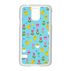 Easter - chick and tulips Samsung Galaxy S5 Case (White)