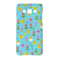 Easter - chick and tulips Samsung Galaxy A5 Hardshell Case
