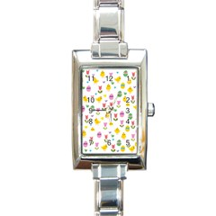 Easter - chick and tulips Rectangle Italian Charm Watch