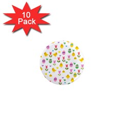 Easter - chick and tulips 1  Mini Magnet (10 pack)