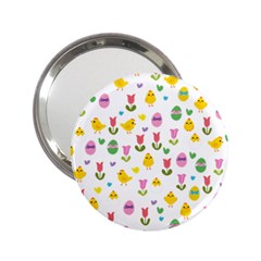 Easter - chick and tulips 2.25  Handbag Mirrors