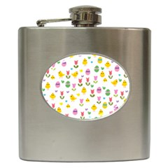 Easter - chick and tulips Hip Flask (6 oz)